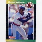 1989 Donruss Baseball #213 Devon White - California Angels