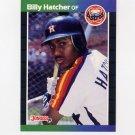1989 Donruss Baseball #187 Billy Hatcher - Houston Astros
