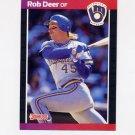 1989 Donruss Baseball #173 Rob Deer - Milwaukee Brewers
