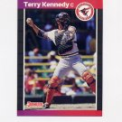 1989 Donruss Baseball #141 Terry Kennedy - Baltimore Orioles