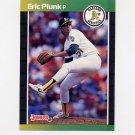 1989 Donruss Baseball #125 Eric Plunk - Oakland A's