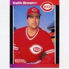 1989 Donruss Baseball #115 Keith Brown - Cincinnati Reds