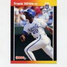 1989 Donruss Baseball #085 Frank White - Kansas City Royals