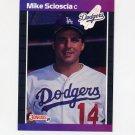1989 Donruss Baseball #077 Mike Scioscia - Los Angeles Dodgers