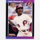 1989 Donruss Baseball #076 Juan Samuel - Philadelphia Phillies