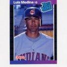1989 Donruss Baseball #036 Luis Medina Rated Rookie - Cleveland Indians