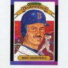 1989 Donruss Baseball #001 Mike Greenwell Diamond Kings - Boston Red Sox