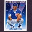 1993 Topps Baseball #812 Matt Walbeck RC - Chicago Cubs