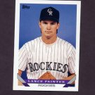 1993 Topps Baseball #738 Lance Painter RC - Colorado Rockies
