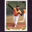1993 Topps Baseball #705 Bob Welch - Oakland A's