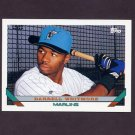 1993 Topps Baseball #697 Darrell Whitmore RC - Florida Marlins