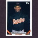 1993 Topps Baseball #587 Manny Alexander - Baltimore Orioles