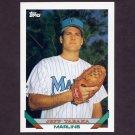 1993 Topps Baseball #586 Jeff Tabaka RC - Florida Marlins