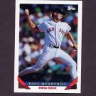1993 Topps Baseball #528 Paul Quantrill - Boston Red Sox