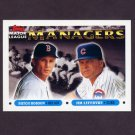 1993 Topps Baseball #502 Butch Hobson MG Red Sox / Jim Lefebvre MG Cubs