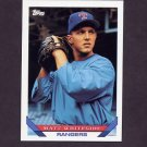 1993 Topps Baseball #468 Matt Whiteside RC - Texas Rangers