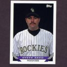 1993 Topps Baseball #461 Steve Reed RC - Colorado Rockies