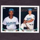 1993 Topps Baseball #441 Todd Pridy RC / Don Lemon - Florida Marlins
