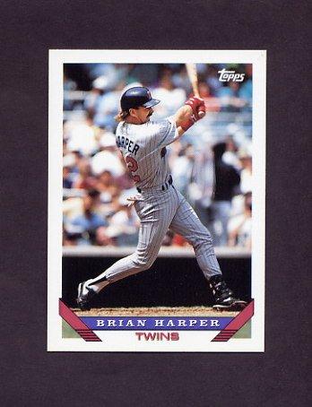 1993 Topps Baseball #389 Brian Harper - Minnesota Twins