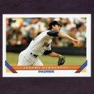 1993 Topps Baseball #388 Jeremy Hernandez - San Diego Padres