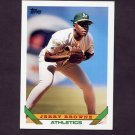 1993 Topps Baseball #383 Jerry Browne - Oakland A's