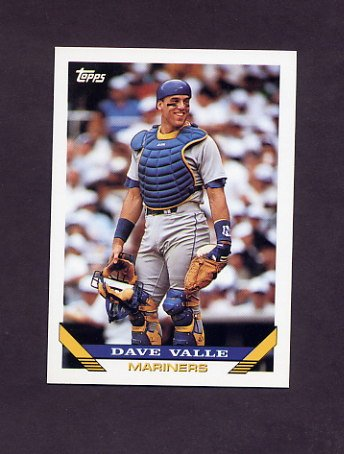 1993 Topps Baseball #370 Dave Valle - Seattle Mariners