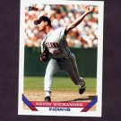 1993 Topps Baseball #358 Kevin Wickander - Cleveland Indians