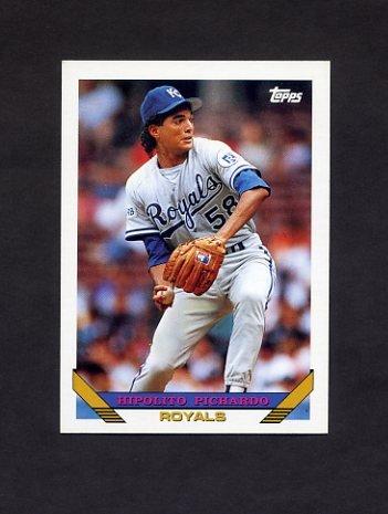 1993 Topps Baseball #349 Hipolito Pichardo - Kansas City Royals