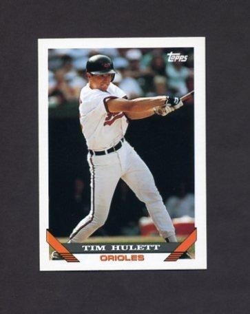 1993 Topps Baseball #327 Tim Hulett - Baltimore Orioles