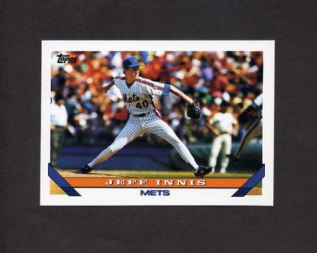 1993 Topps Baseball #297 Jeff Innis - New York Mets