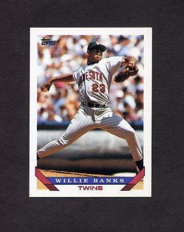 1993 Topps Baseball #226 Willie Banks - Minnesota Twins