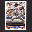 1993 Topps Baseball #226 Willie Banks - Minnesota Twins