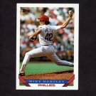 1993 Topps Baseball #208 Mike Hartley - Philadelphia Phillies