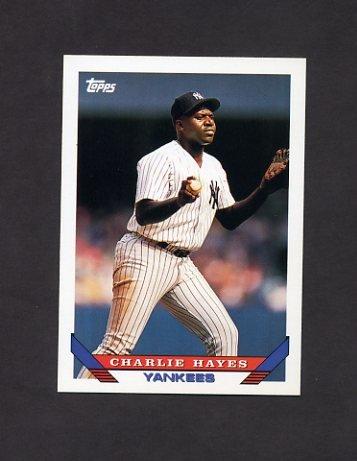 1993 Topps Baseball #142 Charlie Hayes - New York Yankees
