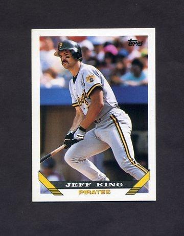 1993 Topps Baseball #136 Jeff King - Pittsburgh Pirates