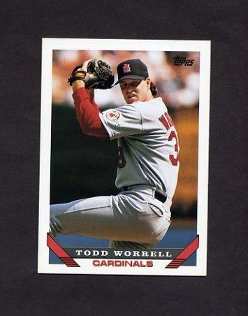 1993 Topps Baseball #121 Todd Worrell - St. Louis Cardinals