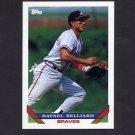 1993 Topps Baseball #062 Rafael Belliard - Atlanta Braves