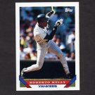 1993 Topps Baseball #060 Roberto Kelly - New York Yankees