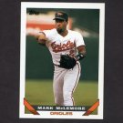 1993 Topps Baseball #055 Mark McLemore - Baltimore Orioles