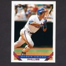 1993 Topps Baseball #043 Ruben Amaro - Philadelphia Phillies