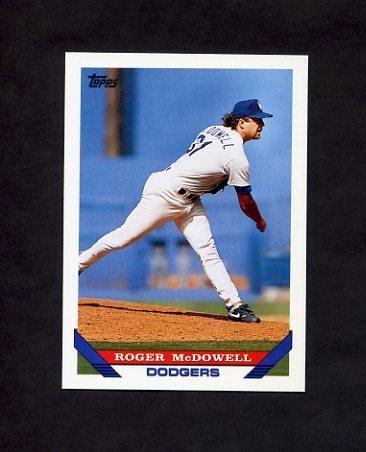 1993 Topps Baseball #039 Roger McDowell - Los Angeles Dodgers