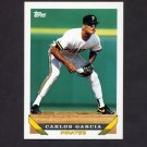 1993 Topps Baseball #027 Carlos Garcia - Pittsburgh Pirates