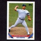 1993 Topps Baseball #019 Ed Nunez - Texas Rangers