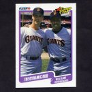 1990 Fleer Baseball #637 Will Clark / Kevin Mitchell - San Francisco Giants