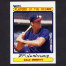 1990 Fleer Baseball #623 Dale Murphy - Atlanta Braves