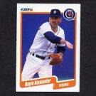 1990 Fleer Baseball #599 Doyle Alexander - Detroit Tigers