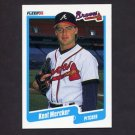 1990 Fleer Baseball #590 Kent Mercker RC - Atlanta Braves
