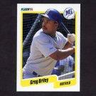 1990 Fleer Baseball #507 Greg Briley - Seattle Mariners