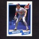 1990 Fleer Baseball #498 Pete O'Brien - Cleveland Indians