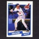 1990 Fleer Baseball #492 Felix Fermin - Cleveland Indians